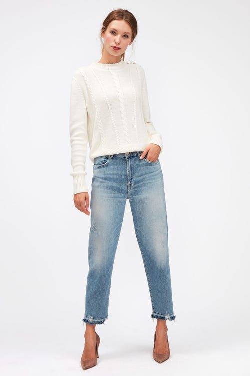 MALIA LUXE VINTAGE SKYWALK DISTRESSED WITH DISTRESSED HEM