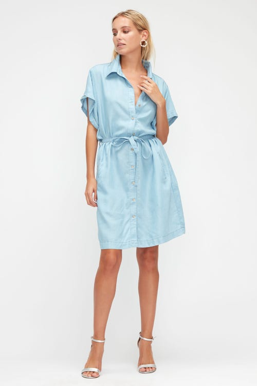 ANETT DRESS DEL MAR WITH EMBROIDERED MESSAGE