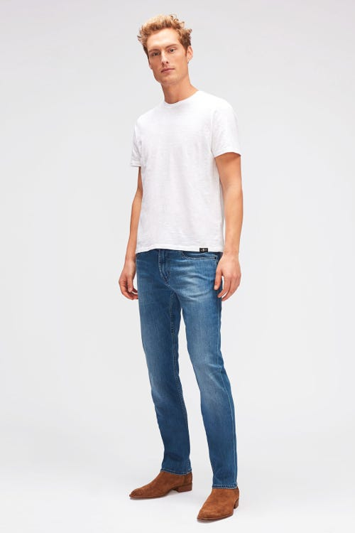 7 For All Mankind - Slimmy Luxe Performance Mid Blue
