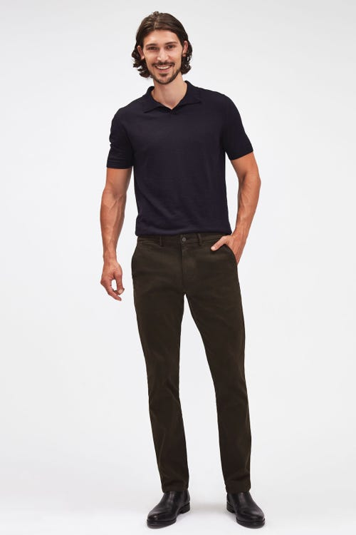 SLIMMY CHINO LUXE PERFORMANCE SATEEN FOREST GREEN