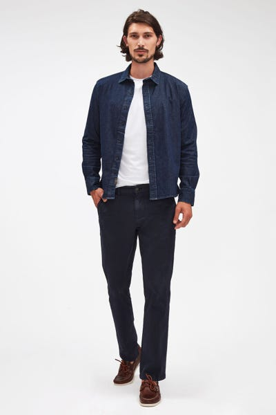 SLIMMY CHINO LUXE PERFORMANCE SATEEN NAVY