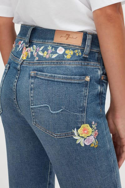 ROXANNE ANKLE LUXE VINTAGE FLASHBACK WITH EMBROIDERED FLOWERS