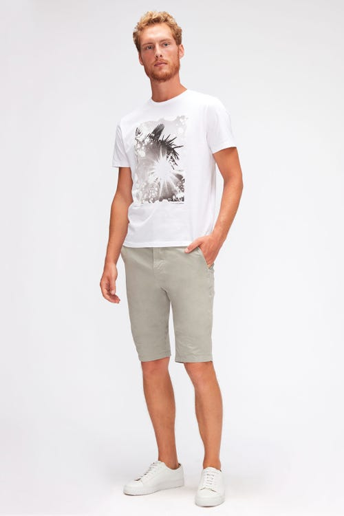 SLIMMY CHINO SHORTS WEIGHTLESS COLORS  DUSTY STONE