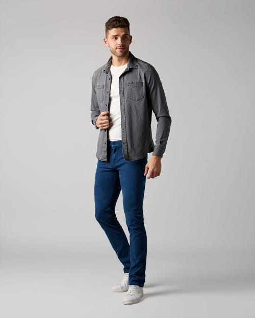 7 for all Mankind - EXTRA SLIM CHINO LUXE PERFORMANCE SATEEN ULTRAMARINE BLUE