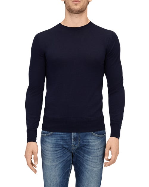 CREW NECK KNIT CASHMERE INK BLUE