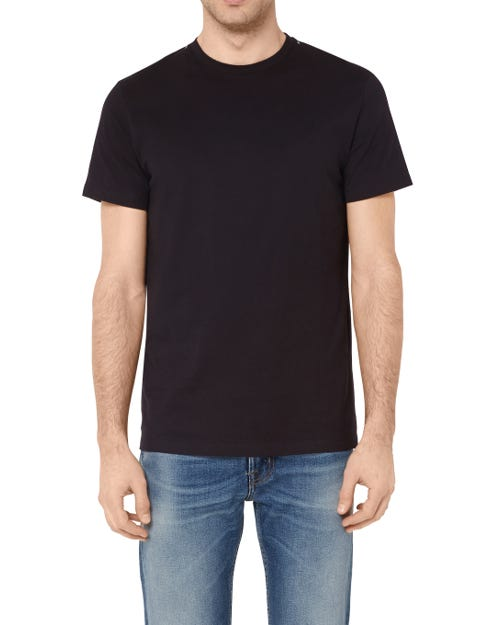 T-SHIRT COTTON STUDS BLACK