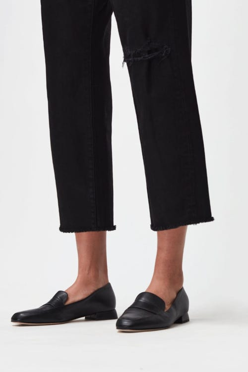 THE MODERN STRAIGHT OUTERSPACE WITH RAW HEM