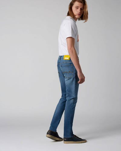 7 For All Mankind - Ronnie Special Edition Hanwell Light Blue With Emb Yellow Label