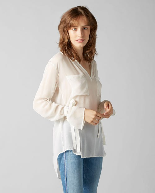 BLOUSE SILK OFF WHITE
