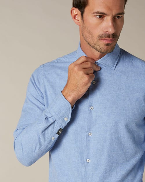 SHIRT FLANNEL PALE BLUE