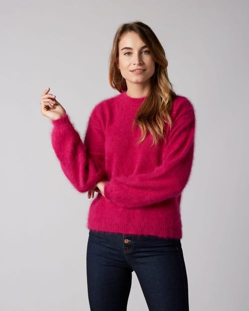 7 For All Mankind - Crewneck Sweater Angora Purple