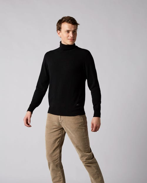 7 For All Mankind - Turtle Neck Knit Cashmere Black