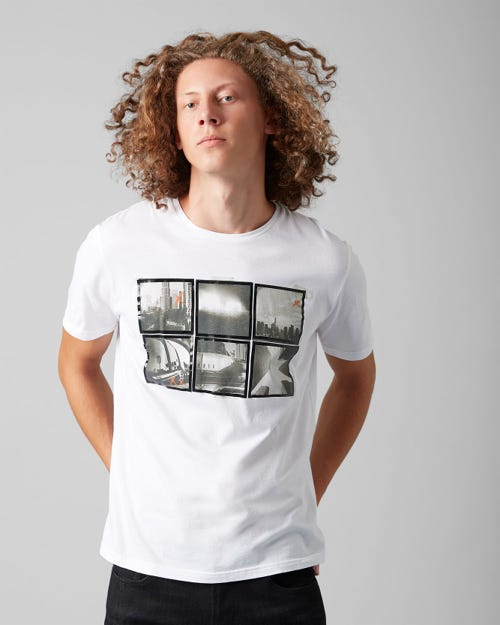 7 For All Mankind - Graphic Tee Cotton Photo Salt White