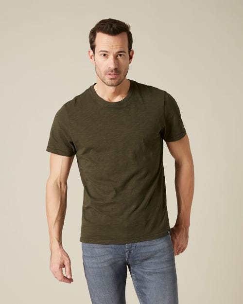 T-SHIRT SLUB FOREST GREEN