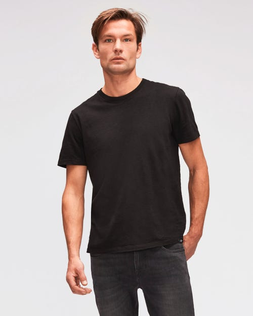 T-SHIRT SLUB BLACK