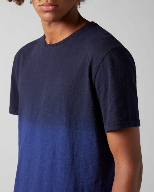 7 For All Mankind - T-Shirt Slub Fade Navy Blue