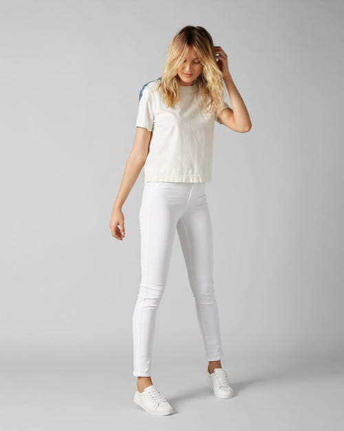 7 For All Mankind - Hw Pyper Crop Slim Illusion Pure White