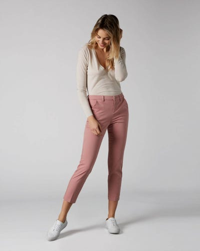 7 For All Mankind - Chino Sateen Rose Pink