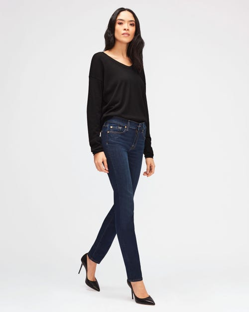7 For All Mankind - Mid Rise Roxanne B(Air) Rinsed Indigo