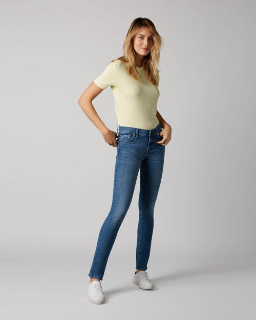 7 For All Mankind - Mid Rise Roxanne Slim Evolution Almost Love