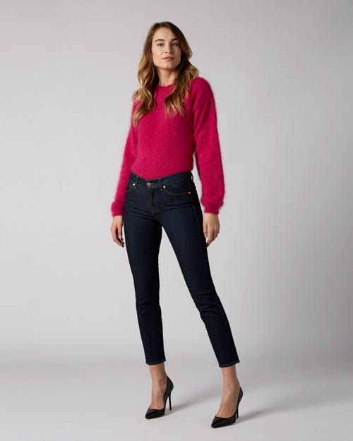 7 For All Mankind - Mid Rise Roxanne Crop Original