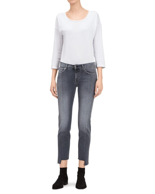 MID RISE ROXANNE CROP SLIM ILLUSION MOONDANCE