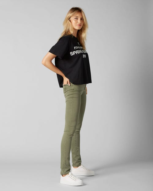 7 For All Mankind - Mid Rise Roxanne Colored Slim Illusion Woodland