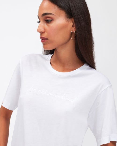 MANKIND TEE CUTIL CLOUD WITH EMBROIDERY