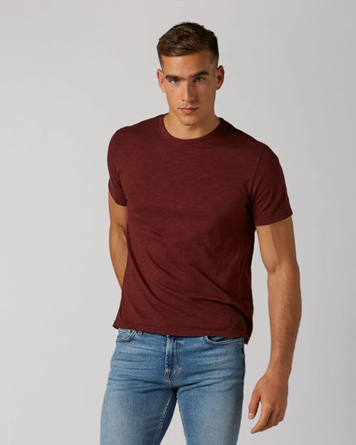 T-SHIRT SLUB BURGUNDY