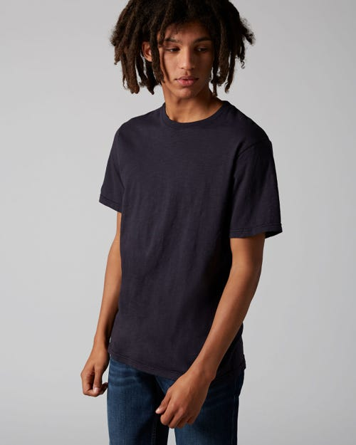 7 For All Mankind - T-Shirt Slub Navy