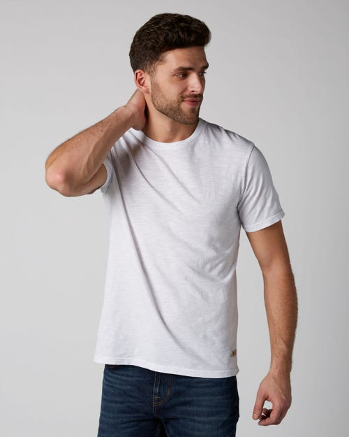7 For All Mankind - T-Shirt Slub White