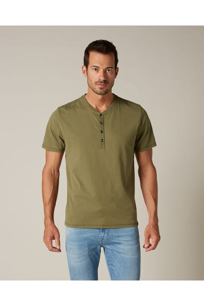 HENLEY SHORT SLEEVE JERSEY MILITARY ARMY