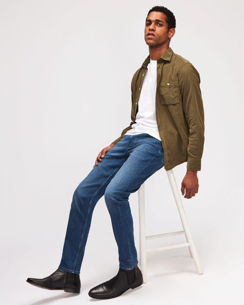 7 For All Mankind - Slimmy Tapered Luxe Performance Plus Mid Blue
