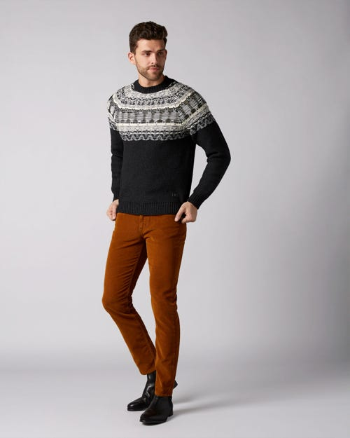 7 For All Mankind - Slimmy Tapered Corduroy Color Tobacco