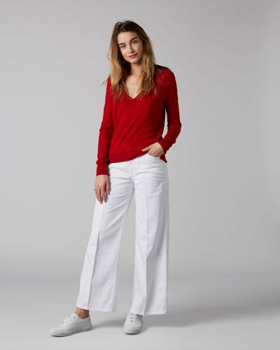 7 For All Mankind - Lotta Cropped Pure White
