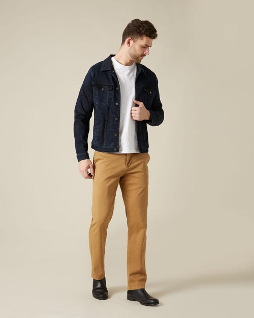 SLIMMY CHINO LUXE PERFORMANCE SATEEN CAMEL
