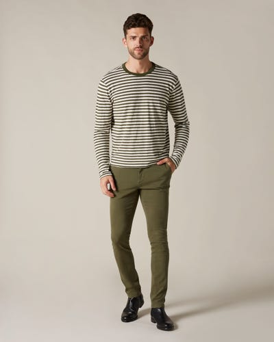 RONNIE CHINO LUXE PERFORMANCE SATEEN ARMY