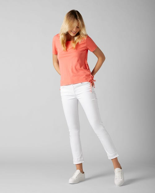 7 For All Mankind - Kimmie Straight Pure White