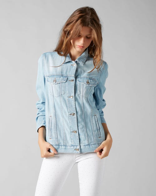 7 For All Mankind - Boyfriend Trucker Jacket Encinitas