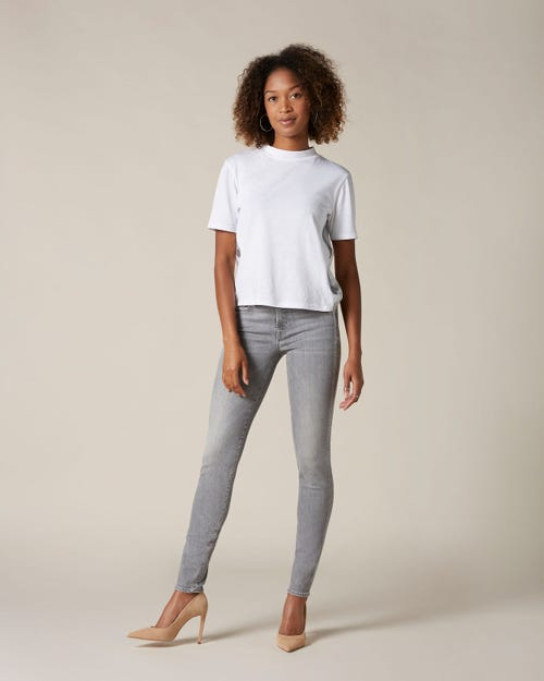 THE SKINNY CROP SLIM ILLUSION NEW DAWN FADING CRYSTAL OUTSEAM
