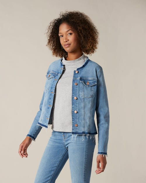 DENIM JACKET SLIM ILLUSION DEPARTED