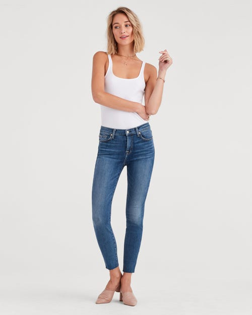 THE HIGH WAIST ANKLE SKINNY B(AIR) AUTHENTIC LUCK