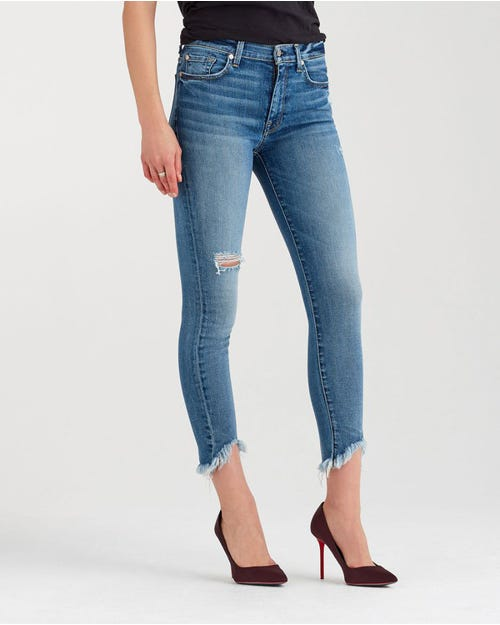 HIGH WAIST ANKLE SKINNY WAVE HEM CANYON RANCH