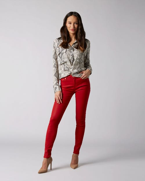 7 For All Mankind - The Skinny Coated Slim Illusion Flame