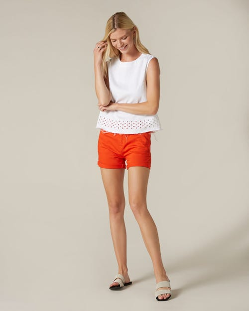 BOY SHORTS COLORED COMFORT STRETCH RED