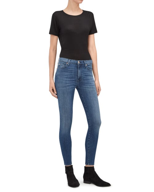 HW SKINNY CROP AIRY MID BLUE