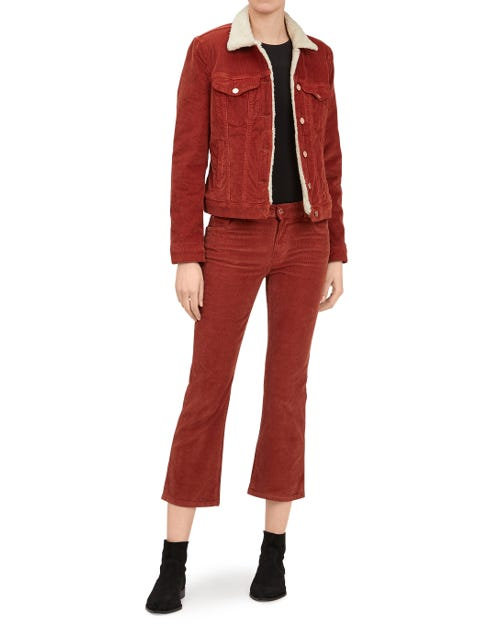 CROPPED BOOT CORDUROY WHISKEY