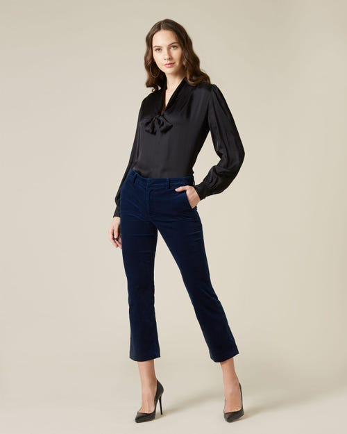7 For all Mankind - Ankle Boot Chino Sartorial Velvet Navy